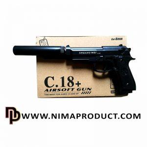 تفنگ ساچمه ای برند airsoft مدل +C18