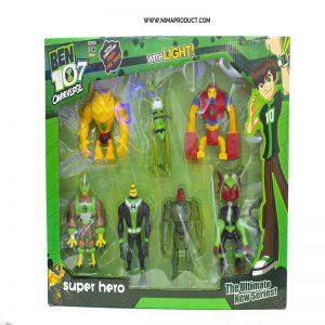مجموعه 6 تایی عروسک های Ben 10
