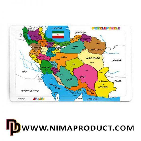 پازل رنگ آمیری نقشه ایران