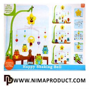 آویز تخت کودک مدل Happy Shaking Bell