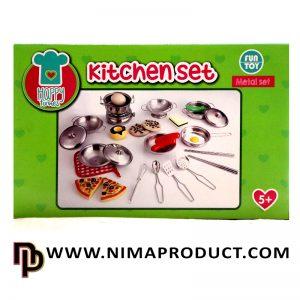 ست استیل لوازم آشپزخانه کودک مدل Kitchen Set
