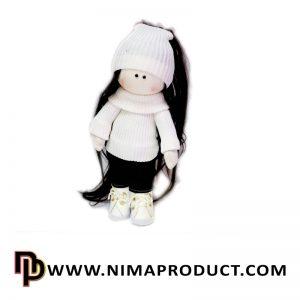 عروسک روسی دختر لباس کاموایی شماره 7