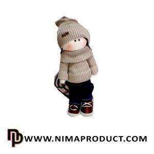 عروسک روسی دختر لباس کاموایی شماره 4