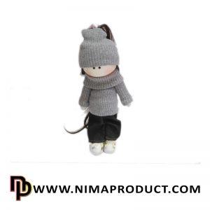 عروسک روسی دختر لباس کاموایی شماره 11