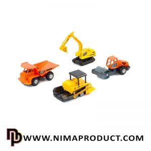 ست 4 عددی ماشین آلات ساختمانی مدل PT-2072