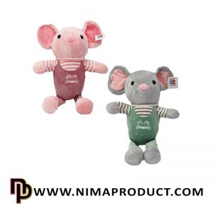 عروسک موش دو بندی راه راه