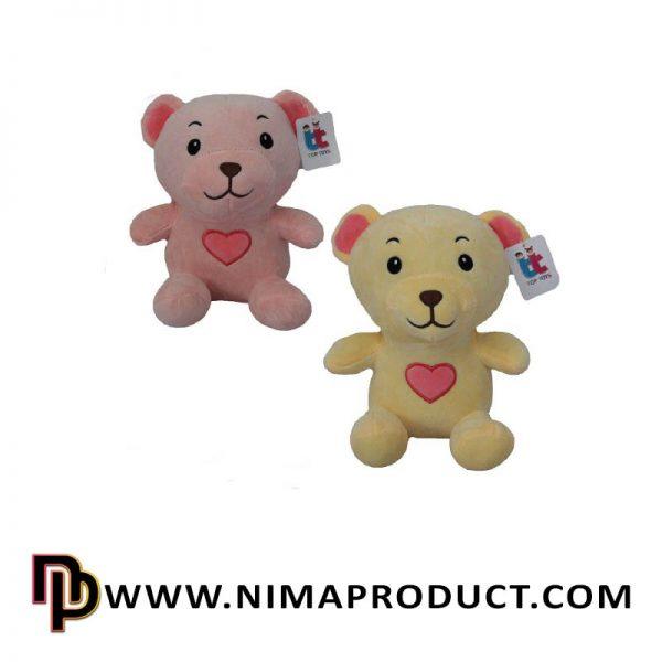 عروسک استرج خرس قلب به سینه