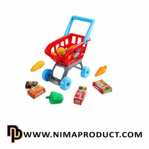 سوپر مارکت با چرخ خرید و صندوق لوازم آیتم 32351