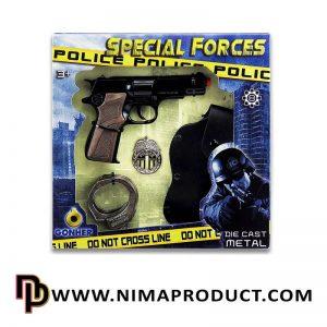 تفنگ فلزی گانهر با قلاف و دستبند آیتم 256