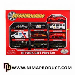 ست 10 عددی ماشین فلزی مدل PT 2009
