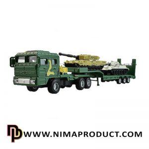 ماکت تریلی حمل تانک KDW مدل Junshijia