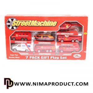 ست 7 عددی ماشین فلزی آتش نشانی مدل PT 2011
