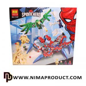 لگو اسپایدرمن برند بلا مدل Spider Hero 11187
