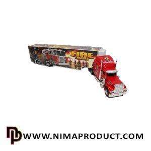 اسباب بازی ماشین کامیون فلزی آتش نشانی