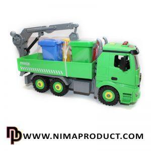 اسباب بازی ساختنی ماشین حمل زباله طرح 2 آیتم 2292